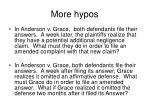 more hypos
