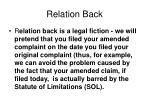 relation back