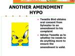 another amendment hypo