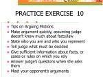 practice exercise 10