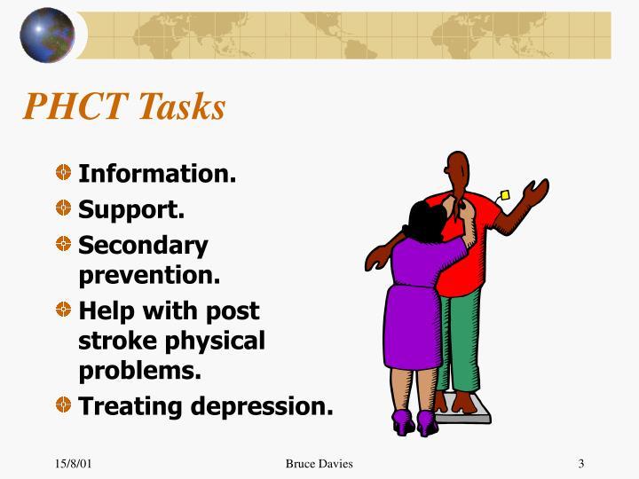 Phct tasks