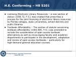h e conforming hb 5201