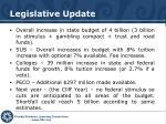 legislative update