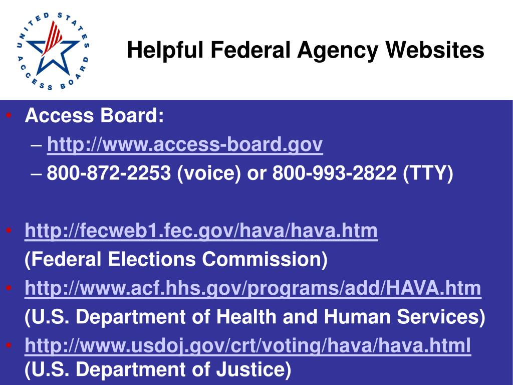 Helpful Federal Agency Websites