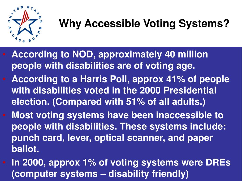 Why Accessible Voting Systems?