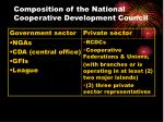 composition of the national cooperative development council