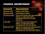 council secretariat