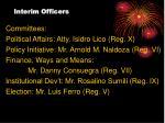 interim officers27
