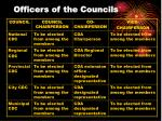 officers of the councils17