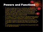 powers and functions9