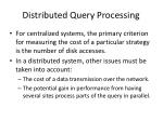 distributed query processing16