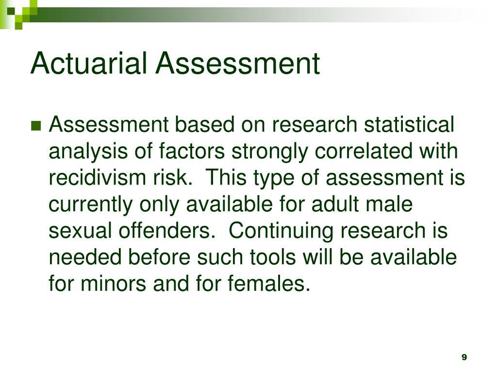 Actuarial Assessment