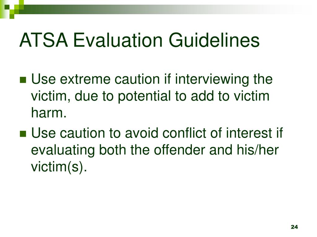 ATSA Evaluation Guidelines