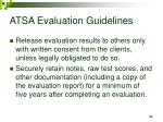 atsa evaluation guidelines33