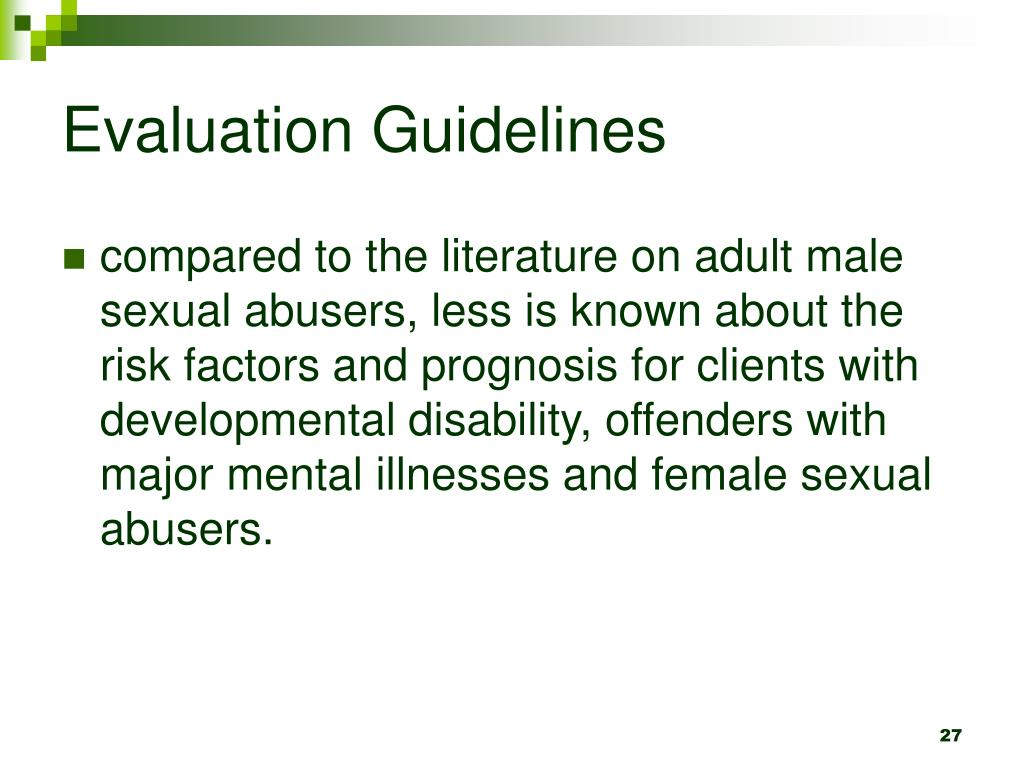 Evaluation Guidelines