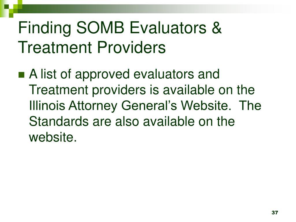 Finding SOMB Evaluators & Treatment Providers
