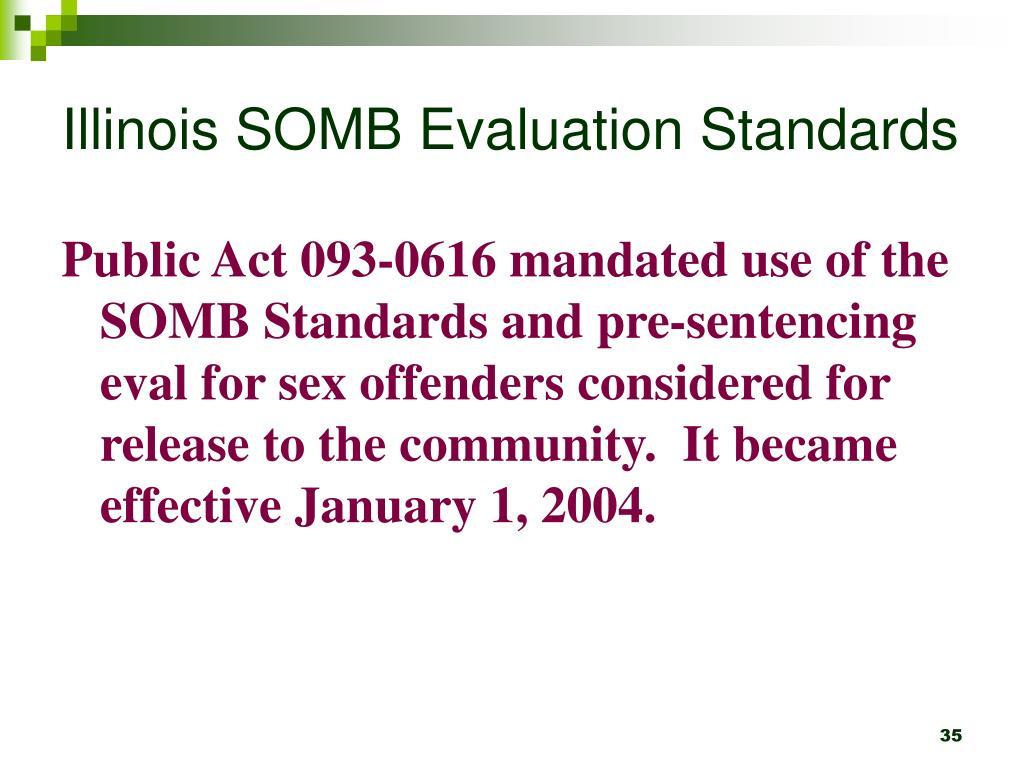 Illinois SOMB Evaluation Standards