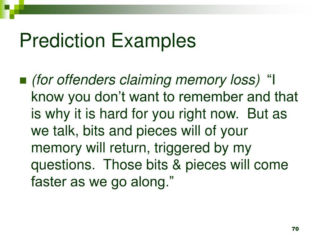 Prediction Examples