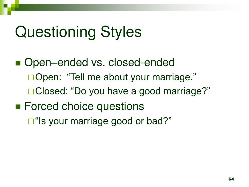 Questioning Styles