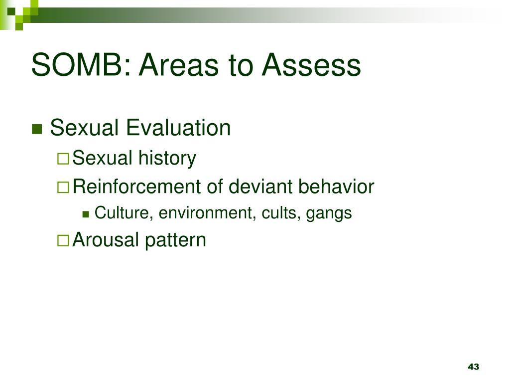 SOMB: Areas to Assess