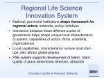 regional life science innovation system