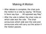 making a motion34