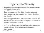 high level of security