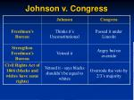 johnson v congress