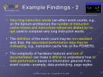 example findings 2