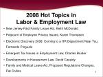 2008 hot topics in labor employment law2