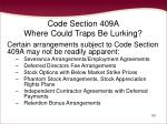 code section 409a where could traps be lurking101