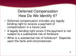 deferred compensation how do we identify it