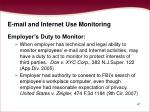 e mail and internet use monitoring47