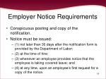 employer notice requirements