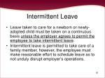 intermittent leave