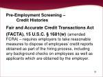 pre employment screening credit histories32