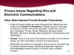 privacy issues regarding wire and electronic communications43
