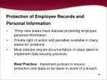 protection of employee records and personal information
