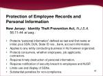 protection of employee records and personal information49