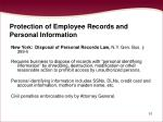 protection of employee records and personal information51