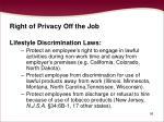 right of privacy off the job56