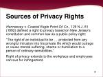 sources of privacy rights26
