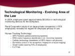 technological monitoring evolving area of the law