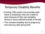 temporary disability benefits