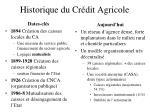 historique du cr dit agricole