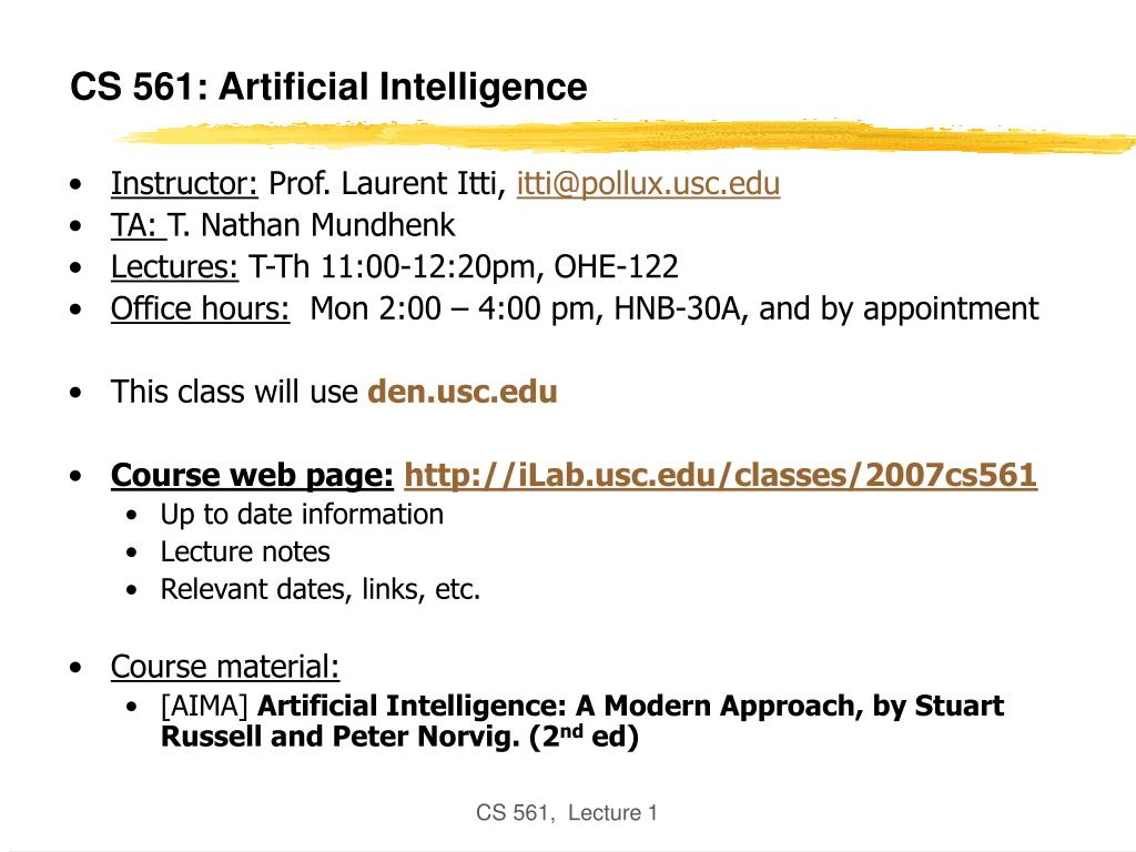 cs 561 artificial intelligence l.