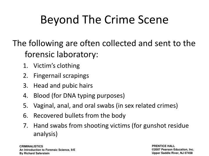 Beyond The Crime Scene