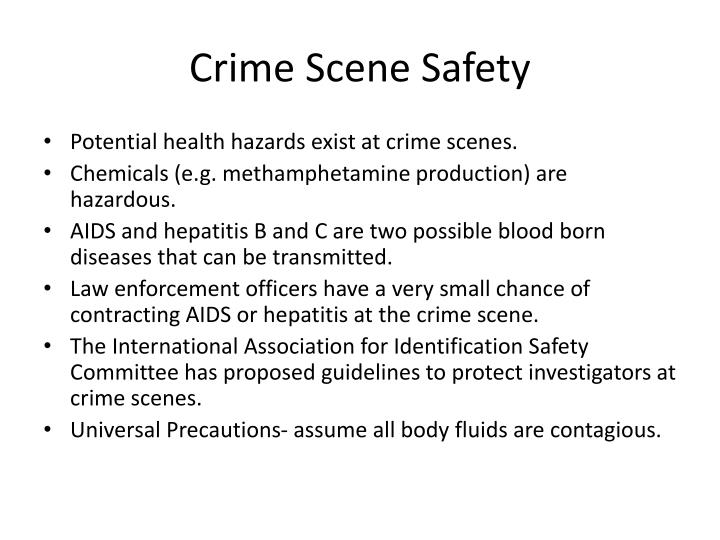 Crime Scene Safety