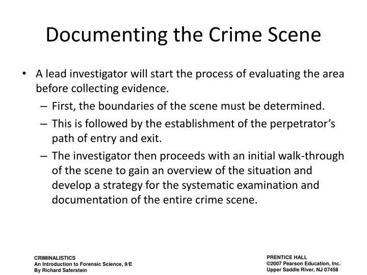 Documenting the Crime Scene