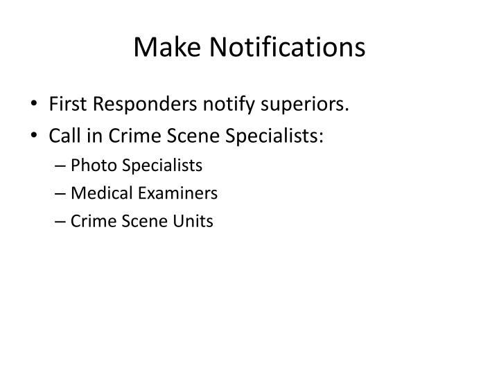Make Notifications